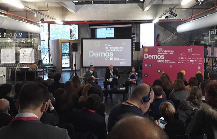 «Las fundaciones deben adaptarse a los códigos de buen gobierno», afirma Pedro Tomey en Demos 2018, el Foro de las Fundaciones