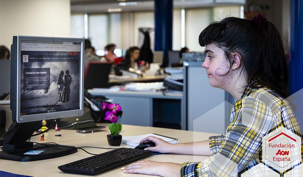 Trabajadora con discapacidad física
