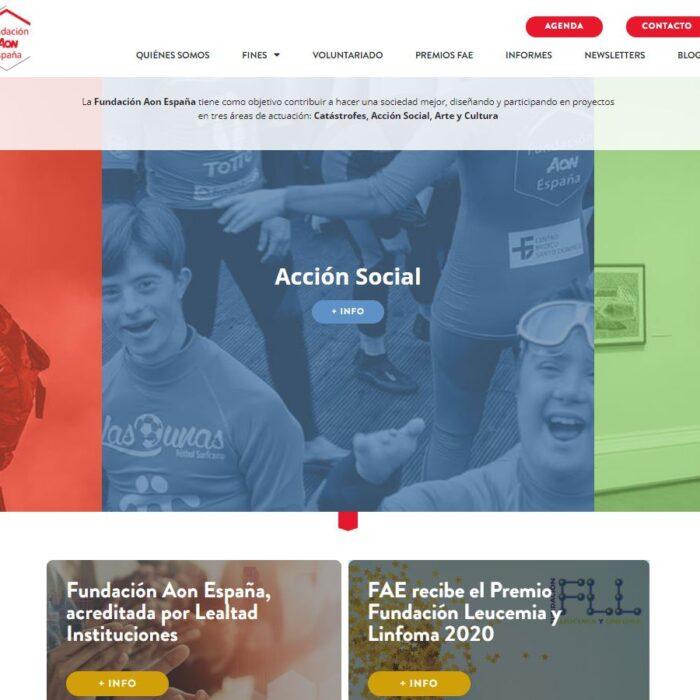 La Fundación Aon España se adapta a la nueva era digital y lanza una web más intuitiva y funcional
