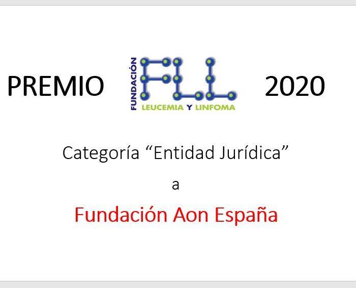 La Fundación Aon España, distinguida por la Fundación Leucemia y Linfoma